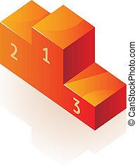 Pedestal for winners. Vector illustration.
