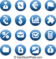 Buttons for business - Set of icons for business Vector...