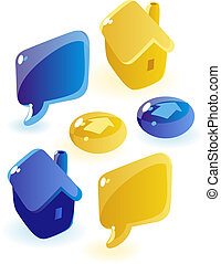 Soap website icons - Glossy icons for website. Vector...