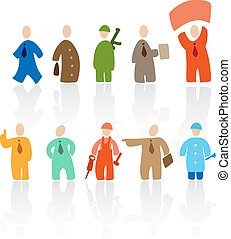 Toon people - Cartoon people: professions Vector...