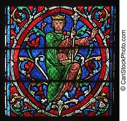 Notre Dame de Paris, stained glass