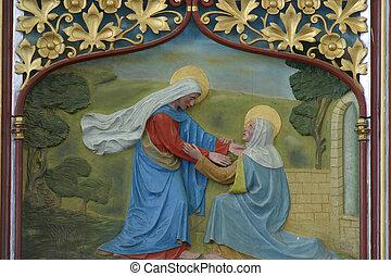 visita, bendito, Virgen, mA