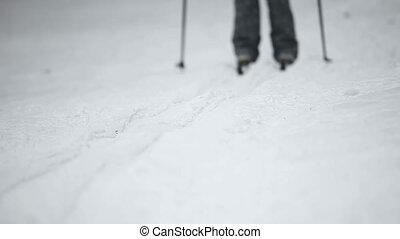 Skier. - Skier on the ski track.
