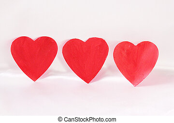 hearts - Three red hearts