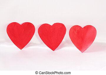 hearts - Three red hearts