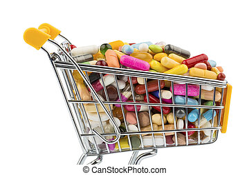 tablets with cart symbolic photo for the purchase of...