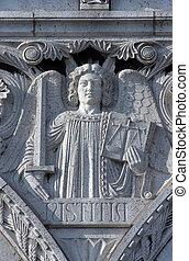 Justice, Basilique Sacre Coeur, Paris
