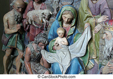 Nativity Scene, Adoration of the shepherds