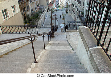 Stairs at Montmartre, Paris
