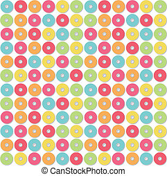 Pattern of colorful CD. Vector design.