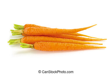 Carrots - Several fresh carrots isolated on white background