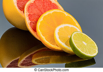 orange slices - slices of an orange representative photo of...