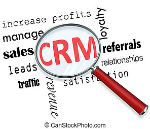 CRM - Magnifying Glass - A magnifying glass hovering over...
