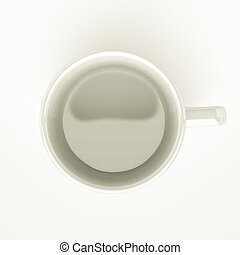 empty mug - top view of empty coffee mug, for conceptual...