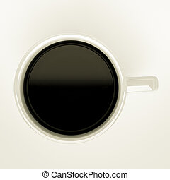 filled up coffee mug - a top view of filled up coffee mug.