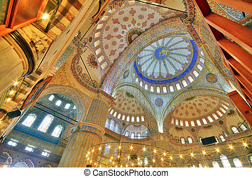 Blue Mosque (Sultanahmet) - Interior view of Blue Mosque...