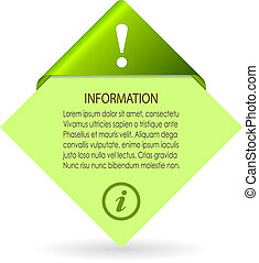 Vector information sheet illustration