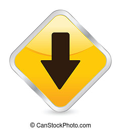 arrow down yellow square icon