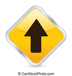 arrow up yellow square icon
