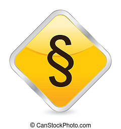 paragraph symbol yellow square icon - Yellow square icon...