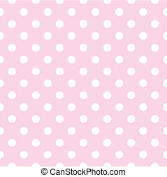 Seamless vector dots pink pattern - Seamless vector pattern...
