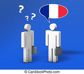ビジネス, フランス語, チャット