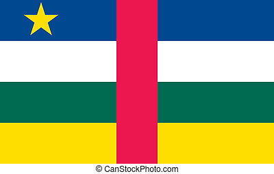 Central African Republic flag - Vector Central African...