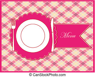 Frame menu. vector illustration