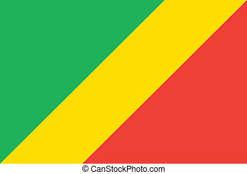 Congo flag - Vector Republic of the Congo flag