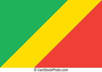 Congo flag - Vector Republic of the Congo flag