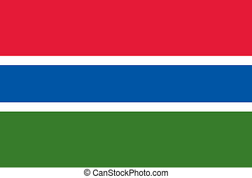 Gambia flag - Vector Republic of the Gambia flag