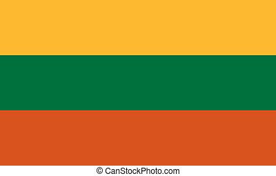 Lithuania flag - Vector Republic of Lithuania flag