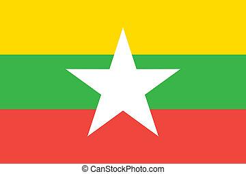 Burma Myanmar flag - Vector Burma Myanmar flag