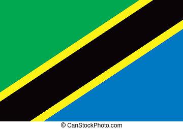 Tanzania flag - Vector Tanzania flag