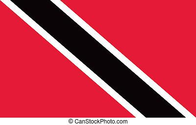 Trinidad and Tobago flag - Vector Trinidad and Tobago flag
