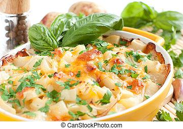 queijo, ASSADO, Forno, batatas
