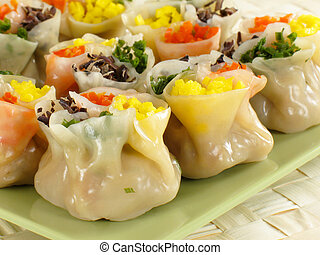 Four Color Siu Mai - This siu mai is specially wrapped to...