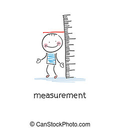 Measurement of growth. Illustration.