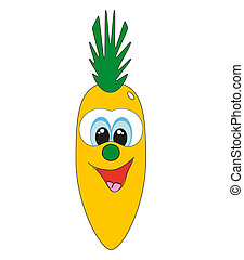 Funny fruit. cartoon. vector