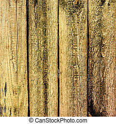 Old cracked wooden planks
