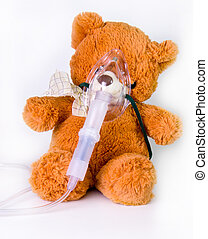 Oxygen mask and bear - Oxygen mask in healthcare