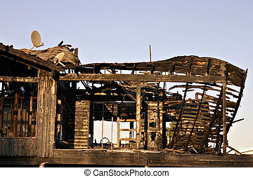 Burn down house - A burned down house that was entirely...