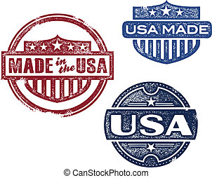 Vintage Made in USA Stamps