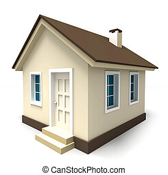 small house in brown colours