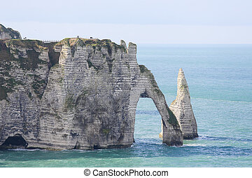Etretat - Chalk cliff at Etretat, Haute Normandie, France
