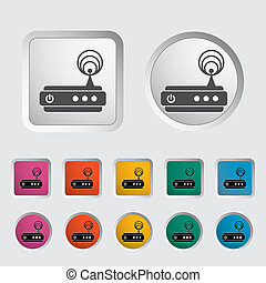 Router single icon. Vector illustration.