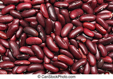 red haricot beans background