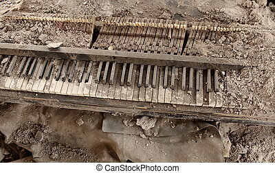 piano - destroyed by the piano