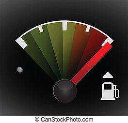 Full gas tank detail illustration design with icons