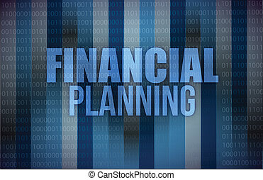 business concept: words financial planning, illustration...